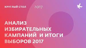 Анализ избирательных кампаний и итоги выборов 2017 года - YouTube