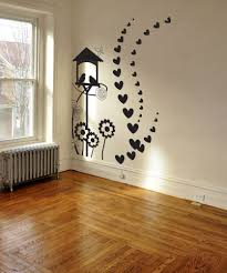Vinyl Wall Decal Sticker Birdhouse With Hearts 1036 Diy Wall Painting Simple Wall Paintings Creative Wall Painting