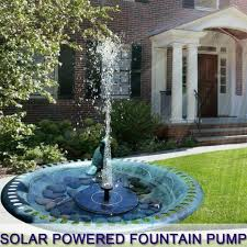fountain pedestal shower water pump