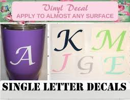 Sale Personalized Letter Decal Letter Decal Letter Sticker Etsy In 2020 Letter Decals Custom Letters Personalized Letters