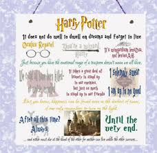 plaque harry potter movie quotes wizards hogwarts ron hermione