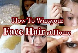 how to wax your face hair at home with