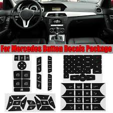 Button Repair Steering Window Climate Control Decal Sticker For Mercedes Benz V2 Walmart Com Walmart Com