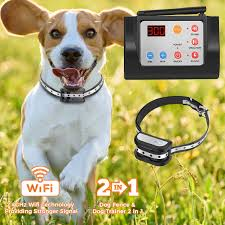 Amazon Com Hokita Dog Fence Wireless Training Collar Outdoor 2 In 1 Electric Pet Containment System Waterproof Reflective Stripe Collar Harmless For All Dogs Black Hokita Pet Supplies