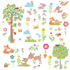 Woodland Creatures Peel And Stick Wall Decals Roommates Decor