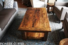 reclaimed wood coffee table vancouver
