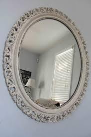 ornate large round mirror