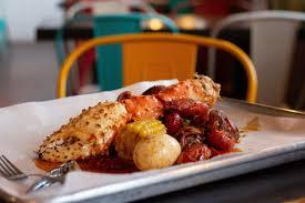 Cajun seafood boils ...