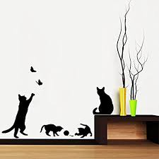Cat Wall Decals Kritters In The Mailbox Cat Wall Decal