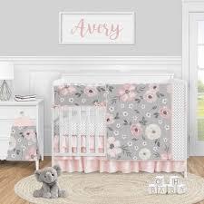grey watercolor fl baby girl