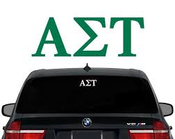 Ast Alpha Sigma Tau Greek Letters Sorority Decal Laptop Etsy