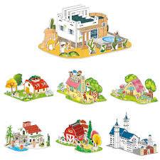 Bộ đồ chơi xếp hình ngôi nhà bằng giấy cho bé giảm chỉ còn 30,000 đ