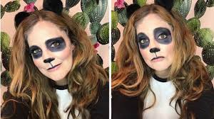 easy panda bear halloween makeup you