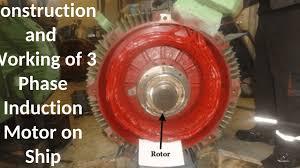 3 phase induction motor on ship