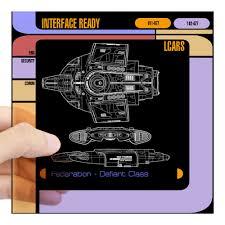 Cafepress Star Trek Lcars Defiant Blueprint Square Sticker Square Sticker 3 X 3 Walmart Com Walmart Com