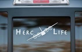 Herc Life C 130 Hercules Vinyl Car Decal Etsy
