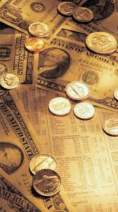 old money coins bills iphone 6 plus hd