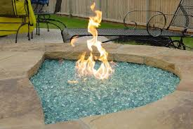 outdoor fire pit glass stones outdoor