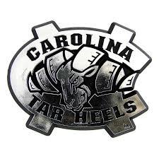 North Carolina Tar Heels Logo 3d Chrome Auto Decal Sticker New Truck Or Car Tar Heels Silver Heels North Carolina