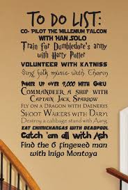Geek To Do List V4 Wall Decal Customizable Fantasy Geekery Etsy