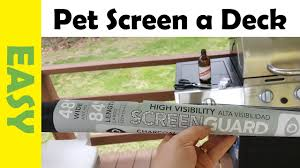 How To Install Diy Pet Fence Using A Mesh Screen For Cats Dogs Youtube