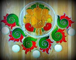 rangoli done on ohp sheet using glass