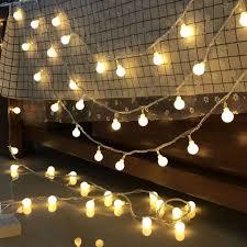 Dây Đèn Led - Đèn Bóng Cổ Tích Màu Trắng Ấm Không Thấm Nước Trang Trí Cho  Các Bữa Tiệc Phòng Ngủ, Giáng Sinh, Lễ, Tết Chạy Bằng Pin - Đèn trang