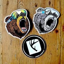 Bear Stickers Snowboard Stickers Outdoorsy Adventure Etsy In 2020 Vinyl Art Stickers Sticker Art Snowboard