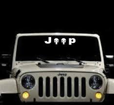 Jeep Punisher Vinyl Window Decal Stickers Sticker Flare Llc
