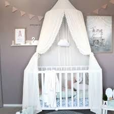 Vova Kids Lace Chiffon Bed Curtain Dome Mosquito Net Lace Princess Bed Netting Toddlers Tent Room Decoration
