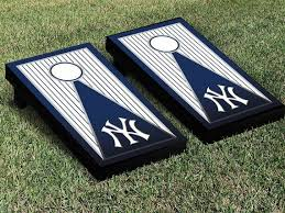 Ny Yankees Pinstripe New York Cornhole Board Game Decal Sticker Set Vinyl Decals Cornhole Cornhole Boards