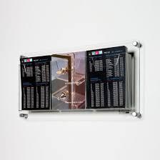 clear acrylic plexigl wall mounted