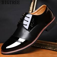 shoes wedding men patent leather shoes