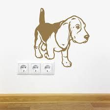 Dog Decal Beagle Walk Vinyl Sticker Decal Good For Walls Cars Ipads Mirrors Etc Dog Decals Beagle Paw Art