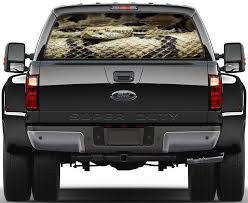 Rattlesnake Snake Car Rear Window See Through Net Decal Decalz Co
