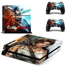 Tomb Raider Ps4 Designer Skin Decal For Playstation 4 Console System And Ps4 Wireless Dualshock Controller Decals Designs Decal Ps4decal Skin Aliexpress