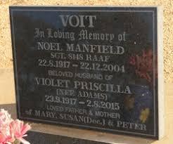 Violet Priscilla Adams Voit (1917-2015) - Find A Grave Memorial