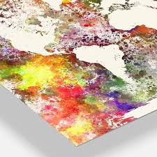 Shop Designart World Map In Great Colors Watercolor Map Metal Wall Art Overstock 12100746