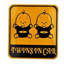 Baby Twins In Car Design Reflective Car Sticker Car Decal 11 5cm 12 5cm Worldwide Free Shipping On Buysku Com