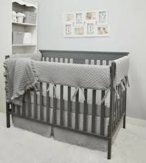 crib bedding set grey gray boy girl