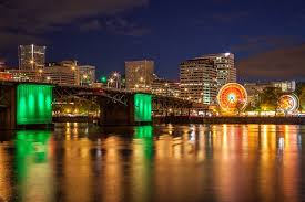 photographing portland at night