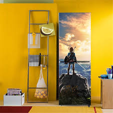 Video Game Zelda Nintendo Art Home Decor Adhesive Pvc Removable Waterproof Decals Refrigerator Cover Door Diy Wall Stickers Bx15 Wall Stickers Aliexpress