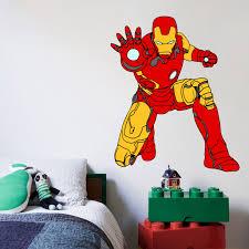 Iron Man The Avengers Cartoon Character Wall Decal Vinyl Sticker Art Home Decor Sticker Vinyl Mural