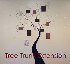 Tree Trunk Extension Wall Decal Trading Phrases