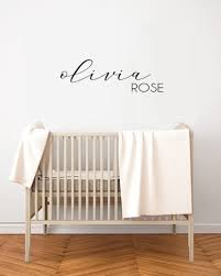 Custom Wall Decal Name Nursery Wall Decals Personalized Etsy