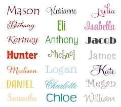 Name Wall Decal Extra Large