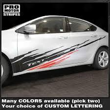 Dodge Dart 2013 2018 Dirt Splash Sport Accent Side Stripes Dodge Dart Car Sticker Design Car Stripes