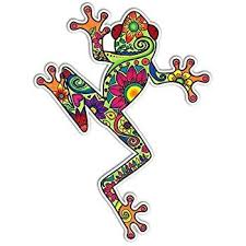 Https Www Amazon Com Reflective Cool Peace Decal Colors Dp B00rbzu6yc Frog Art Car Decal Hippie Tree Frog Tattoos