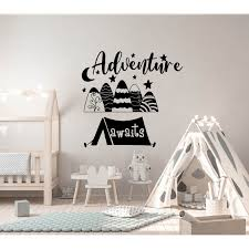 Shop Mountain Decal Kids Adventure Awaits Boys Nursery Wall Decal Overstock 32026864