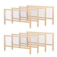 Critterguard Cedar Fence Set For 4 Ft X 8 Ft Cedar Raised Bed Rccg4x8 Greenes Fence Company